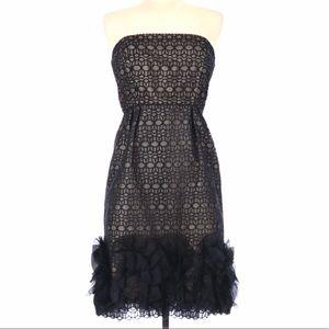 Milly Silk Strapless Dress SZ 2